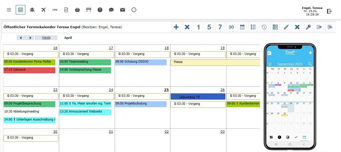 Online Teamkalender Für Unternehmen Timo